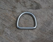 """Lots of 2 - 20 - 50 WELDED Stainless Steel 1"""" D-Rings Great for Paracord Bracelets, Dog/Pet Collars, or many other uses."""