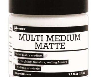 Ranger Multi Medium Matte 3.8 fl oz. Artist Quality Gel Medium - Use to transfer images, finish coat paper and canvas or as an adhesive.