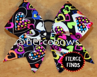 Hearts Aglow Cheer Bow