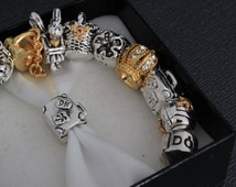 1piece - Bead Sterling Silver 925 Tropical Box Charms Beads, Pandora bracelet