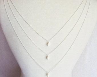 Trinity - Swarovski pearl drops and chain back attachment