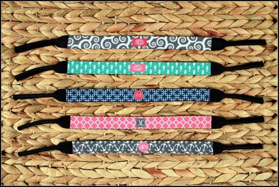 Birthday Gifts For Women Monogram Kroakies Personalized Custom Monogrammed Sunglass Strap Kroakies Best Friend Spring Break Girls Trip Gift