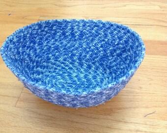 Blue Fabric Basket
