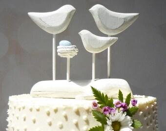 Baby to Be Cake Topper, Baby Shower Gift, Family Gift Ideas, Family Wedding Gift, Love Birds and Nest Cake Topper
