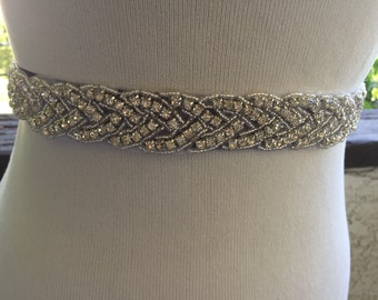 Bridal Sash,Wedding Belt,Rhinestone Bridal Sash