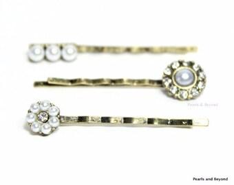 Pearl Flower Hair Bobby Pins Bridal Hair Pins