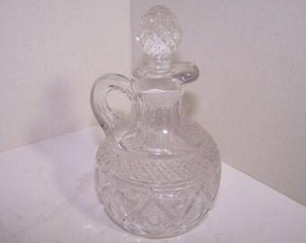 Vintage Pressed Glass Cruet