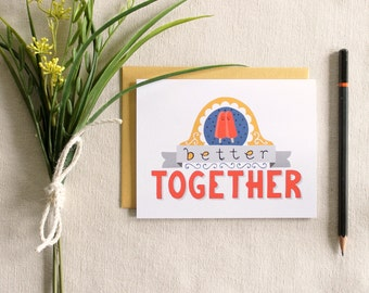 "Twin Pops ""Better Together"" greeting card / blank inside"
