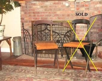 ONE Civil War Officer's Camp Chair Folding 1860-1890