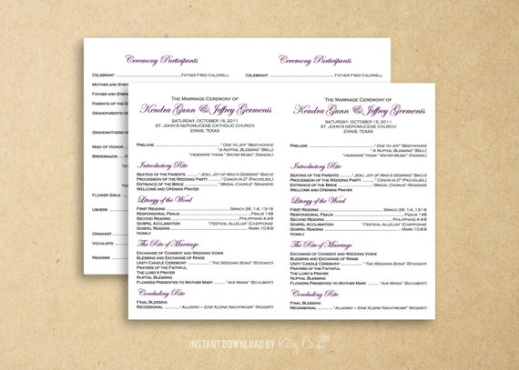 Mother 39 s day church program outline bing images for Catholic wedding mass booklet template