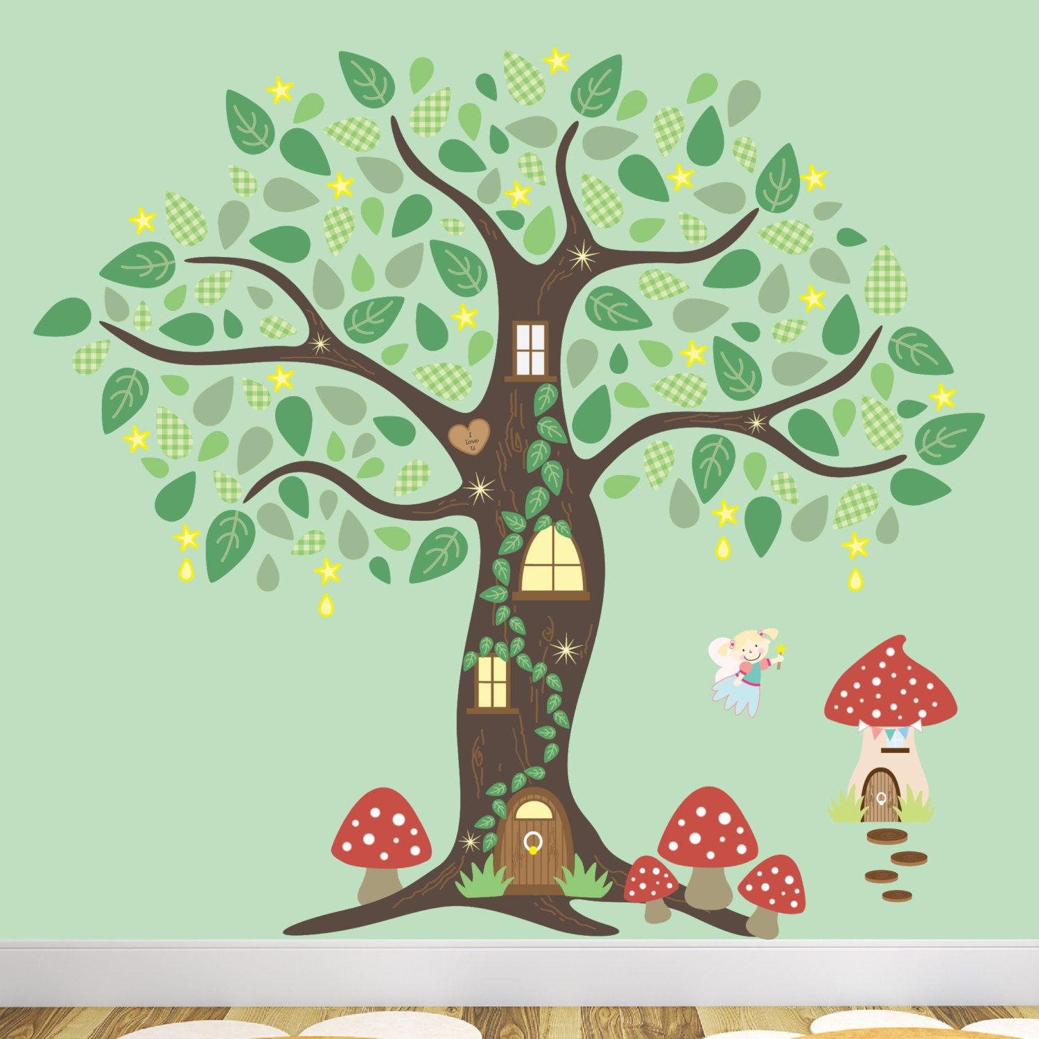Enchanted Forest Decal Kids Woodland Wall Stickersmagical