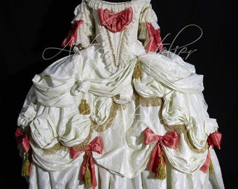 MARIE ANTOINETTE  historical dress, 18 Century Rococo  French Court Dress - abito settecentesco donna XVIII sec