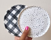 SMALL PLATE SET // Gingham plate, polka dot plate, Wheel thrown pottery, Handmade ceramics, Small plate, Plate set