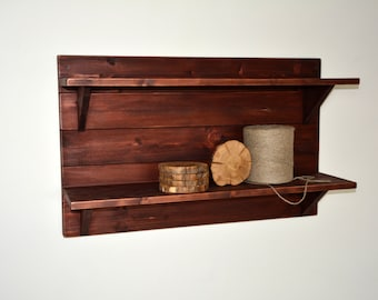 "Rustic Wooden Shelf - 32"" x 20"" x 8"" - Wooden Shelf - Rustic Shelf - Display Shelf - Rustic Wall Shelf - Rustic Shelving"