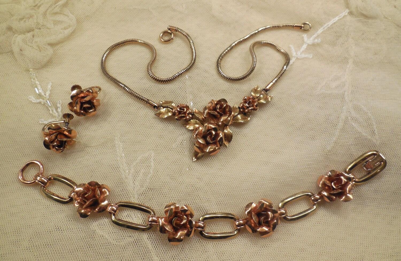 vintage krementz hinged necklace bracelet by