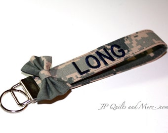 Custom Embroidered Bow Military Wristlet - Army, Navy, Air Force & Marines