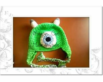 Green Monster Earflap Hat