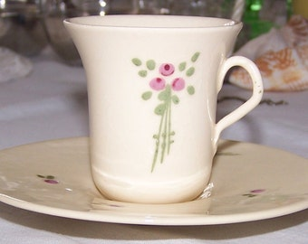 Vintage Vonlynn Pottery Demitasse Cup and Saucer