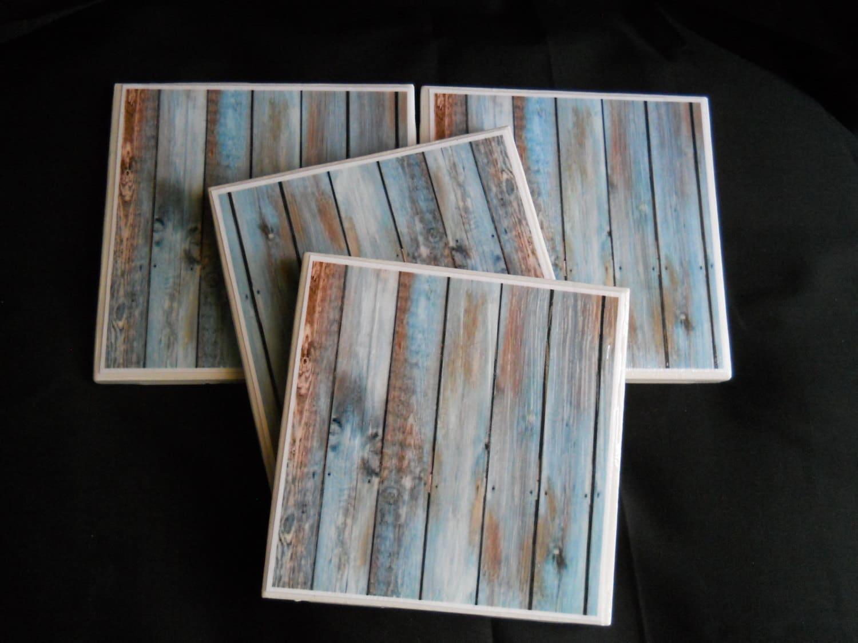 turquoise wood coasters painted wood ceramic tile coaster. Black Bedroom Furniture Sets. Home Design Ideas