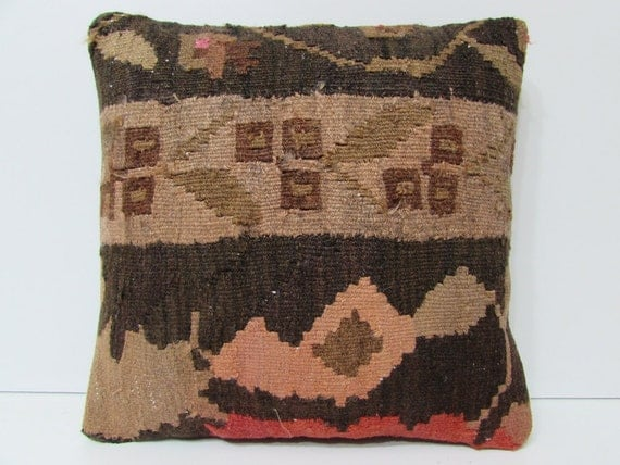 Floral Pillow Black Pillow Case Ethnic By DECOLICKILIMPILLOWS