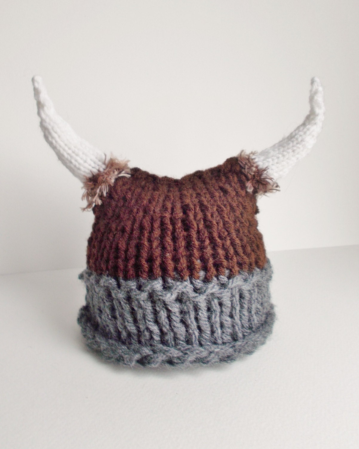 Baby Viking Hat Knitted Viking Hat Knit Viking Hat with