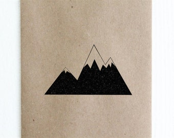 "Jagged Mountain Rubber Stamp - 2""x2"""