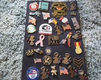 A Nice Lot of vintage Lapel Pins---Lot 8