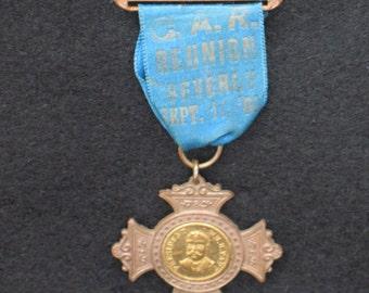 Political Ribbon GAR Reunion Sept 11 1909 William Taft Souvenir Ribbon Beverly MA Grand Army of the Republic