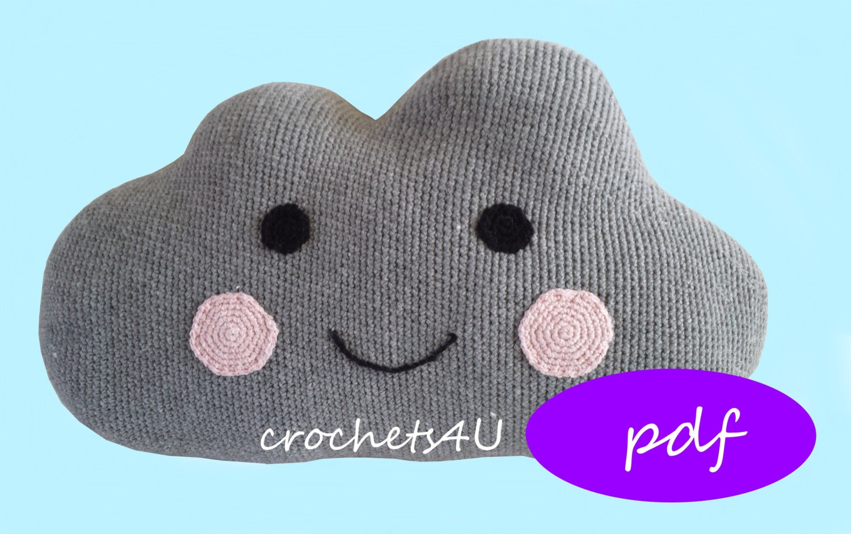 Crochet Pattern Cloud Cloud Pillow Nursery Crochet By
