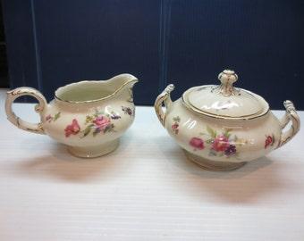 China Sugar Bowl & Creamer By Krautheim