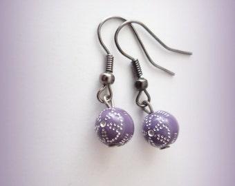 lilac earrings - purple earrings