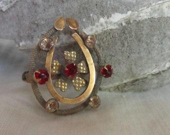 Vintage Horseshoe Victorian Pin