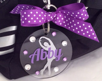 Figure Skater Bag Tag, Personalized