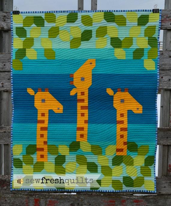 Giraffe Love Baby Quilt Pattern Pdf Instant Download
