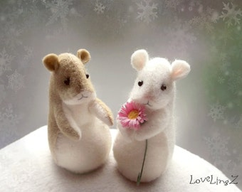Pattern and Tutorial LoveLingZ Hamster, felt sewing pattern instant download, DIY gift