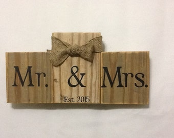 Reclaimed Wood Wedding Plaque