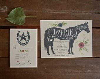 Horse Wedding Invitation - Ranch Wedding