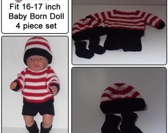 James To fit baby born and similar size dolls 16-17 inch