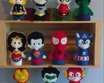 Super Hero finger puppets 11 to choose from Marvel heros