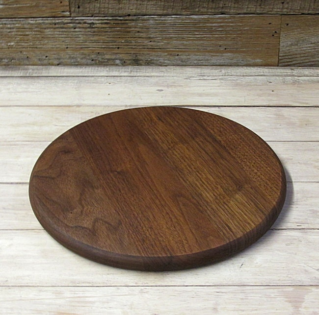wooden cutting board round walnut wood. Black Bedroom Furniture Sets. Home Design Ideas