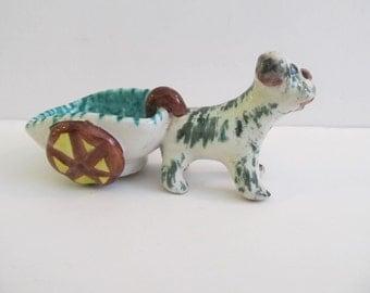 Dog Pulling Cart, Ceramic Dog and Cart, Ceramic Dogs, Dogs, Collector Dogs, Italy, Dog Cart, Dog and Cart