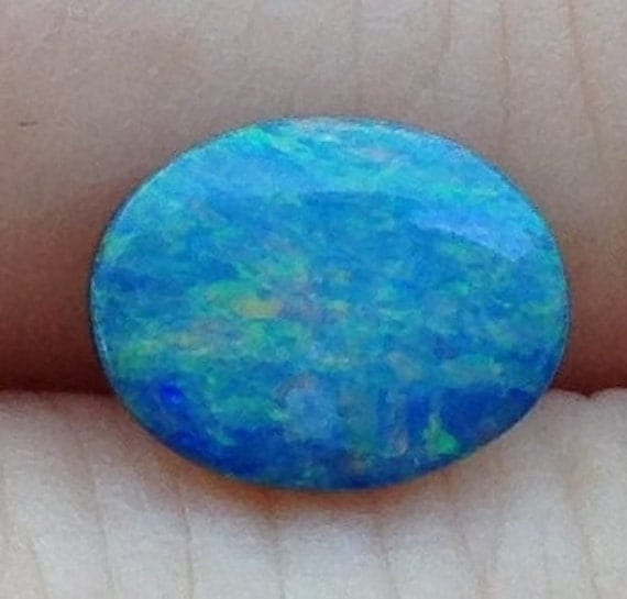 Coral Reef Boulder Opal 8.75x6.75mm Natural Turquoise Gemstone with Video