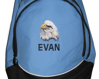 FREE SHIPPING - Bald Eagle  Personalized Monogrammed Backpack Book Bag school tote  - NEW