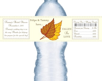 49 Fall Theme Water Bottle Labels