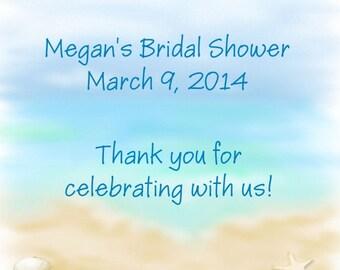 60 Beach Bridal Shower Favor Tags