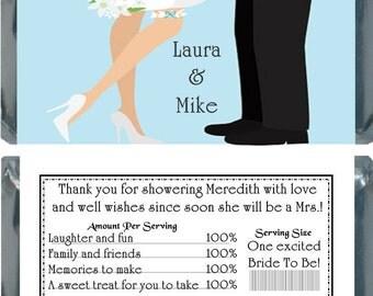 50 Custom Bridal Shower Hershey Bar Wrapper Favors
