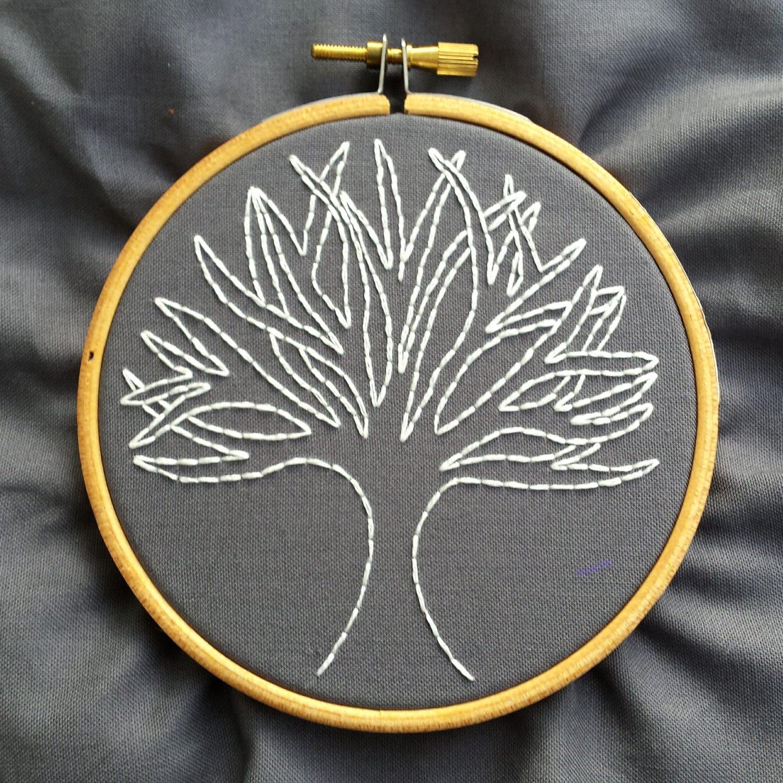 Modern embroidery kit hoop art hand