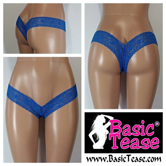 Thong / Super Low Rise Wide Lace Stripper Thong / Stripper Clothes / Stripper / Stripper Wear / Micro Thong / Thongs / Stripper Thong