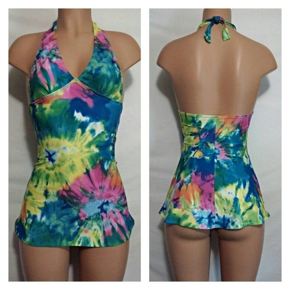 Custom Mini Dancer Halter Dress has a sexy flare at the bottom for Exotic Dancers and Strippers