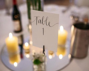 Wedding Table Number / Table Name Card - Calligraphy by Hand, Hand Written Calligraphy
